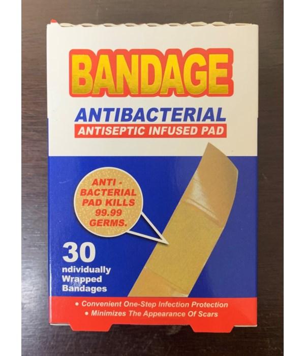 BANDAGE ANTIBACTERIAL 12/30CT
