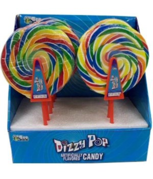 SPINNING DIZZY POP FRUITY CANDY POPS 12/3OZ
