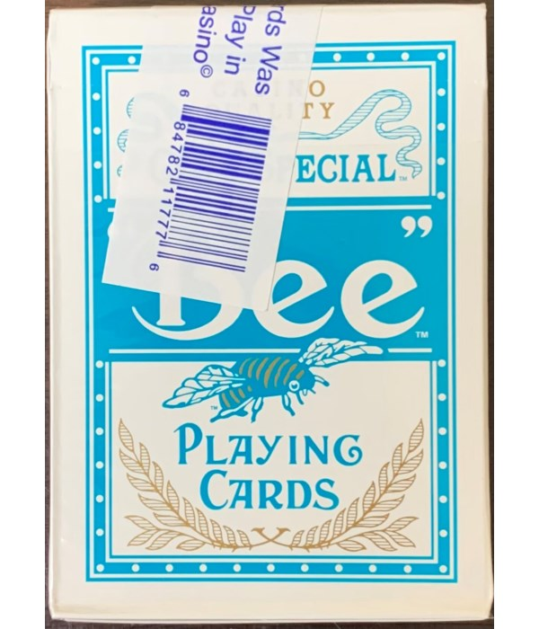 BEE PLAYING CARDS BLUE 1DZ