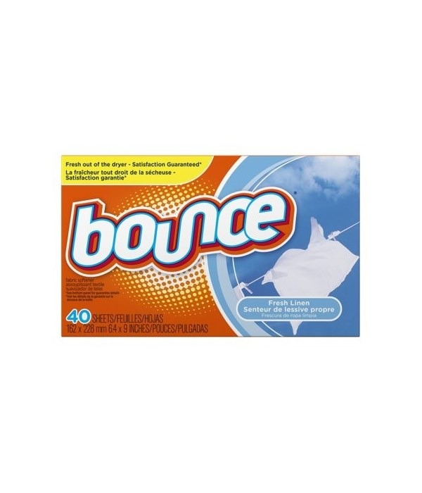 BOUNCE DRYER SHEETS OUTDOOR FRESH 12/40CT(800498)