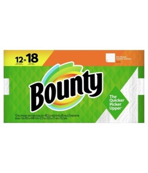 BOUNTY PAPER TOWEL REGULAR SHEETS 12/48OZ