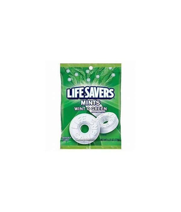 LIFESAVERS MINTS WINT O GREEN 12/6.25OZ