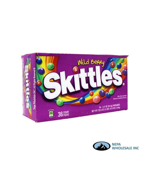 SKITTLES WILD BERRY 36/2.17 OZ