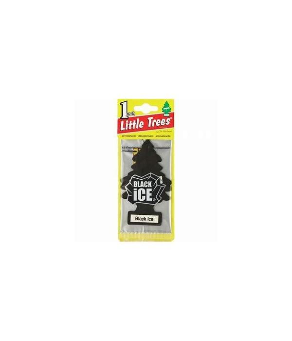 LITTLE TREE CAR FRESHNER BLACK ICE 24CT