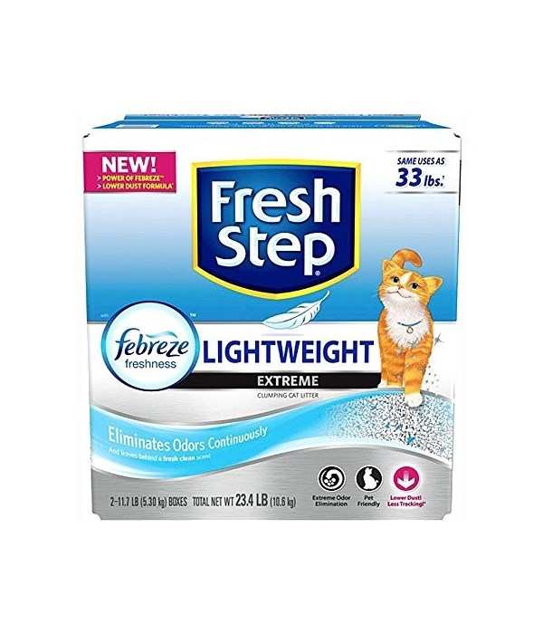 FRESH STEP LIGHTWEIGHT EXTREME SCENTED 2/11.7LB