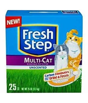FRESH STEP MULTI CAT UNSCENTED 2/25OZ