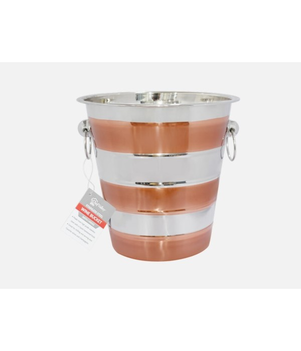 WINE BUCKET WITH LINING COLORS 6CT