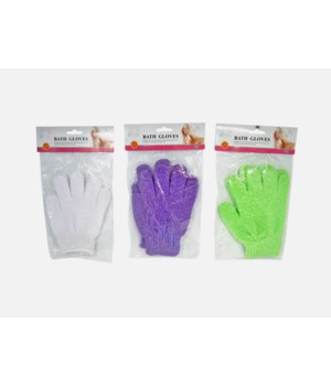 BATH&SHOWER EXFOLIATING GLOVES 48CT