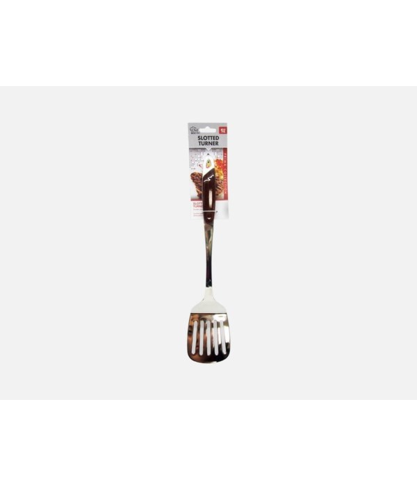 STAINLESS STEEL SLOTTED TURNER 24CT