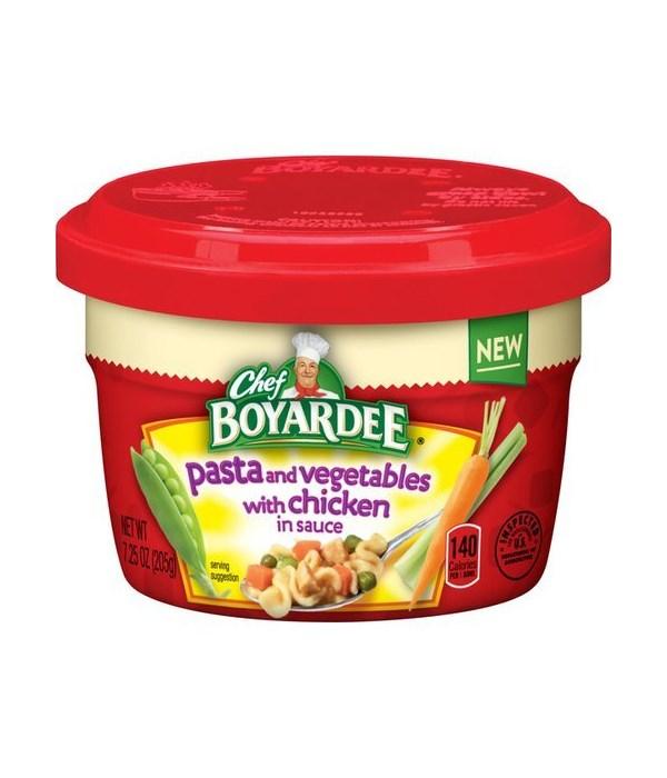 CHEF BOYARDEE MICRO CUP PASTA VEGETABLE CHICKEN 12/7.5OZ