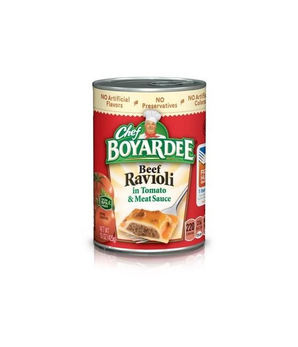CHEF BOYARDEE BEEF RAVIOLI IN PASTA SAUCE 24/15OZ