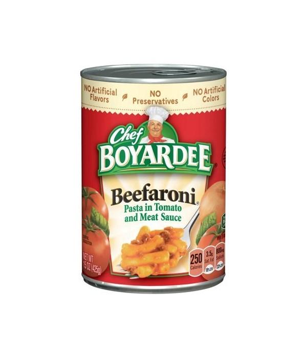 CHEF BOYARDEE BEEFARONI 24/15OZ