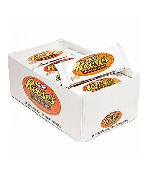 REESE'S WHITE 2 WHITE CREME &PEANUT BUTTER CUPS 24/1.39OZ EXP 04/2021