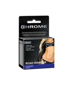 CHROME CONDOMS ROAD WARRIOR 12/3PK