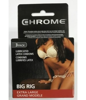 CHROME CONDOMS BIG RIG 12/3PK