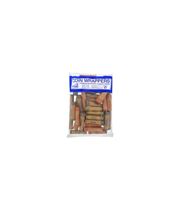 COIN WRAPPERS(ASSORTED) 20/36CT