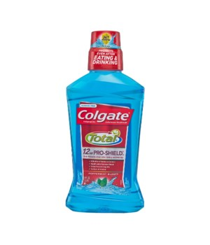 COLGATE TOTAL MOUTHWASH PEPPERMINT 6/500ML (67122)