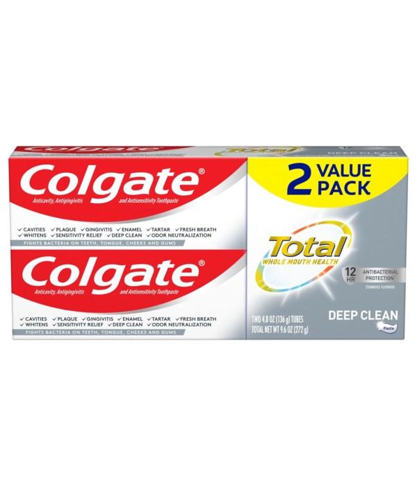 COLGATE DEE CLEAN (4.8OZ) 12/2PK