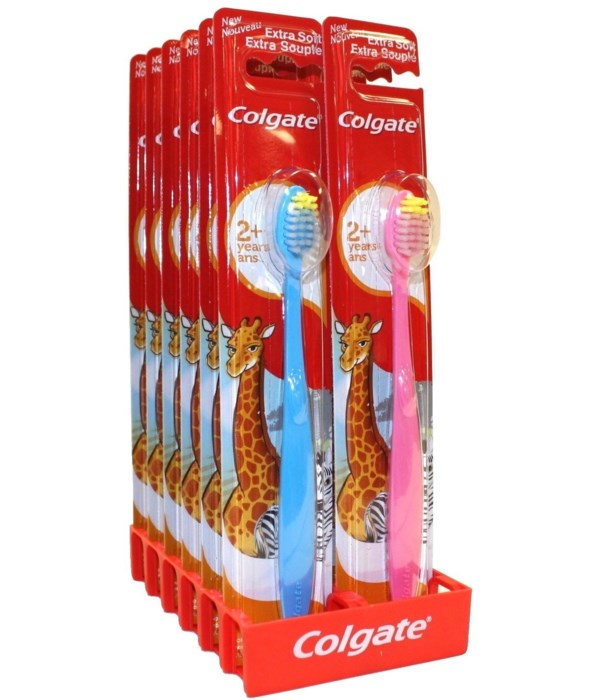 COLGATE TOOTH BRUSH KIDS ASSTED 1DZ (2 YEARS +)