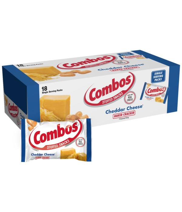 COMBOS CHEDDAR CHEESE CRACKER 18/1.7OZ