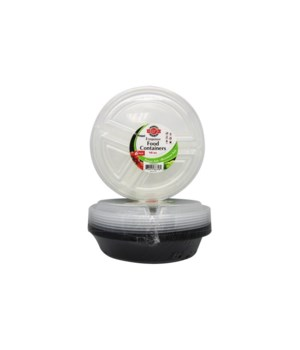 48OZ MICRO ROUND CONTAINERS 30/6PK