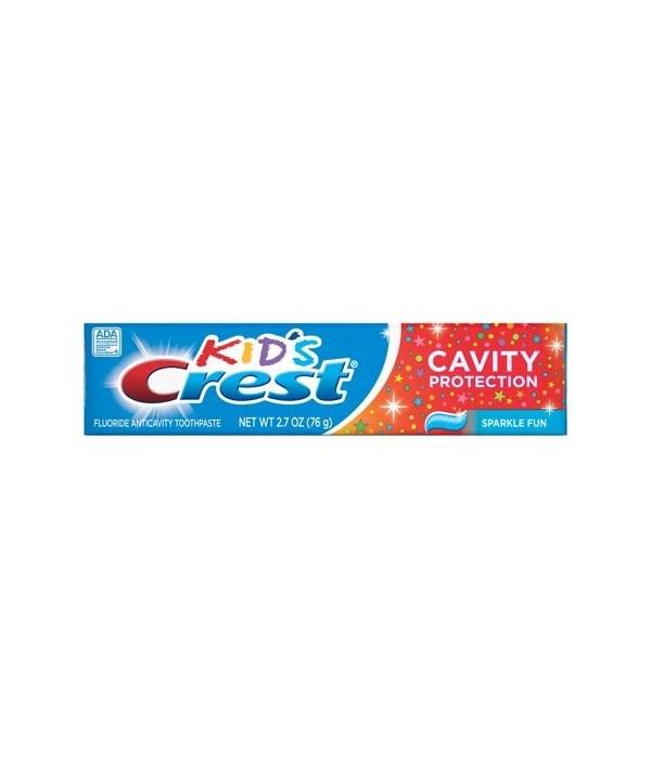 CREST PASTE KIDS CAVITY PROTECTION SPARKLE FUN 24/4.6OZ