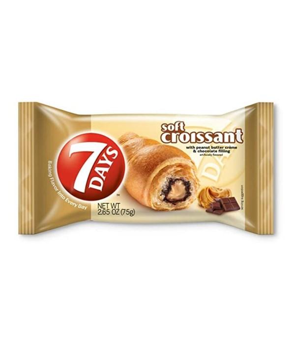 7 DAYS CROISSANT PEANUT BUTTER&CHOCOLATE 6/2.65OZ