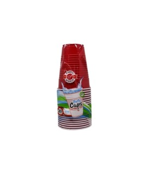 12OZ PLASTIC CUPS RED 24/20CT