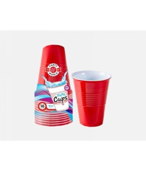 16OZ RED HEAVY DUTY CUPS 24/16CT