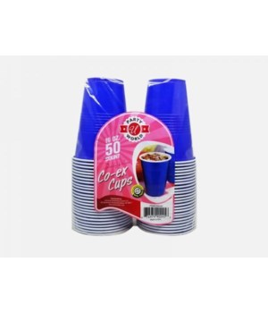 16OZ BLUE HEAVY DUTY PASTIC CUPS 12/50CT