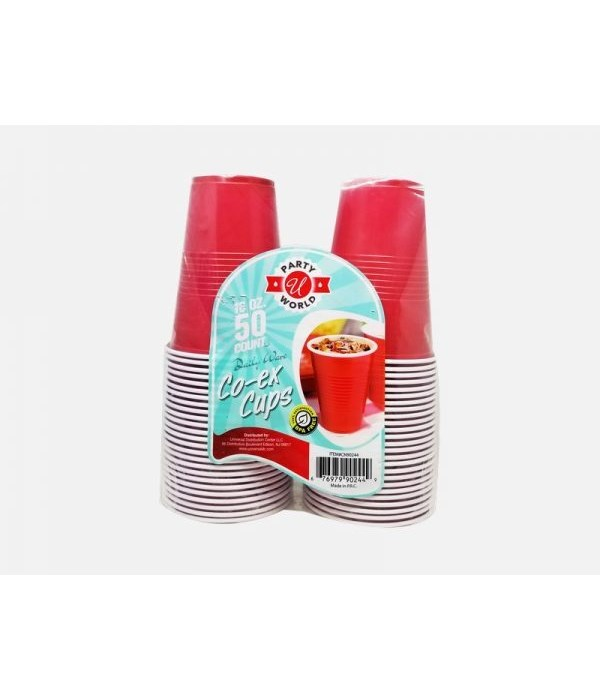 16OZ RED HEAVY DUTY CUPS 12/50CT