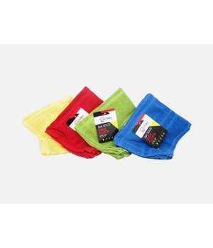 SOLID COLORS DISH CLOTH 18/2PK(12X12)