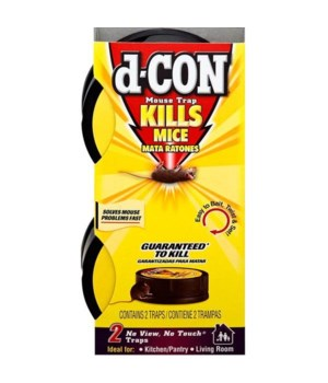 d-CON NO VIEW NO TOUCH SLIM PACK MOUSE TRAP 8/2CT