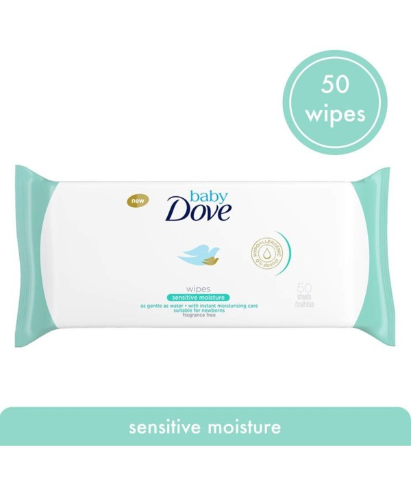 DOVE BABY WIPES RICH MOISTURE 12/50CT