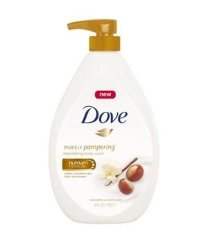 DOVE BODY WASH SHEA BUTTER&VANILLA 12/800ML