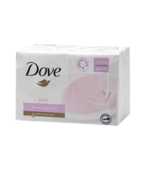 DOVE BAR SOAP 100GR PINK 6/4PK