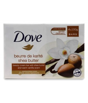 DOVE BAR SOAP 100GR SHEA BUTTER 6/4PK
