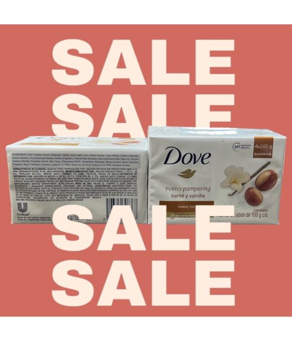 DOVE BAR SOAP 100GR SHEA BUTTER 6/4PK
