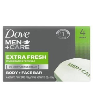DOVE BAR SOAP 100GR EXTRA FRESH FOR MEN 12/4PK