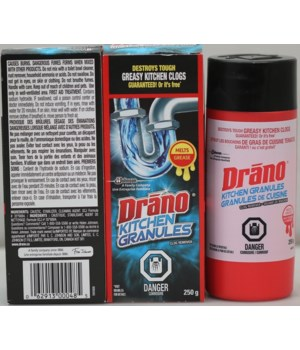 DRANO KITCHEN GRANULES 12/8.8 OZ