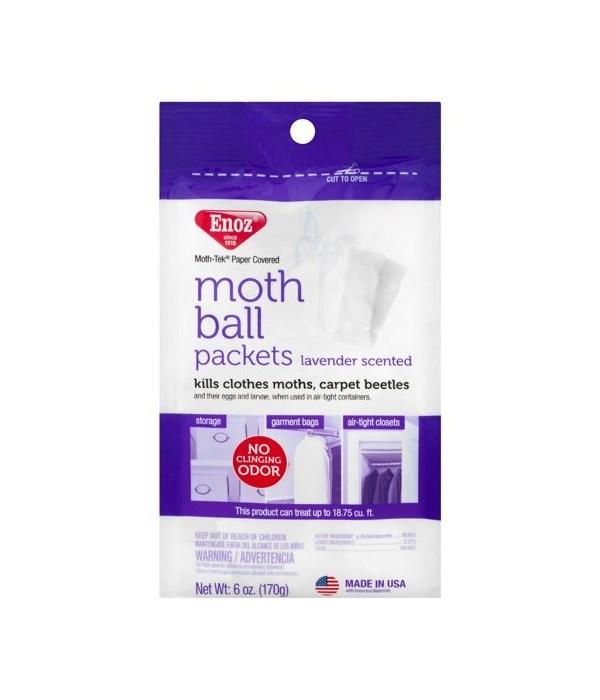 ENOZ MOTH BALLS LAVANDER SCENT 6/6OZ