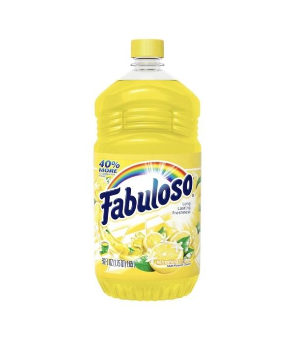 FABULOSO ALLPURPOSE CLEANER LEMON 6/56OZ