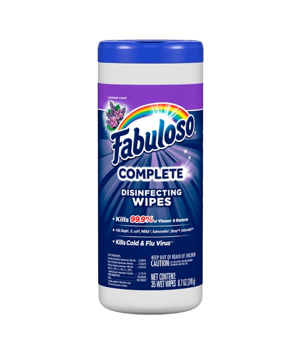 FABULOSO DISINFECTTING WIPES LAVANDER 8/35CT