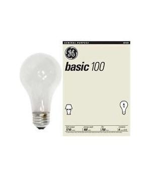 GENERAL ELECTRIC LIGHT BULB BLANCO SUAVE 12/4PK(100W)