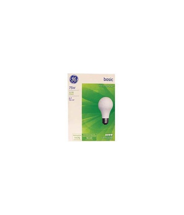 GENERAL ELECTRIC LIGHT BULBS BASIC 12/4PK (75W)