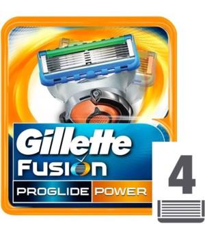 GILLETTE FUSION CARTRIDGES 1/4PK(874460)