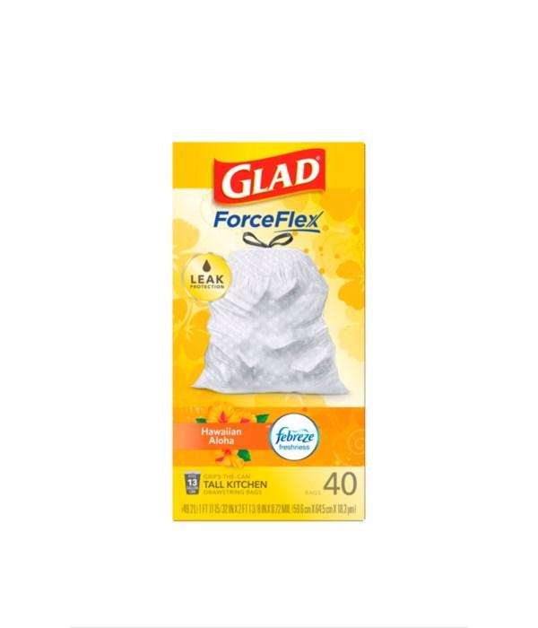 GLAD FORCE FLEX HAWAIIAN ALOHA 6/40CT
