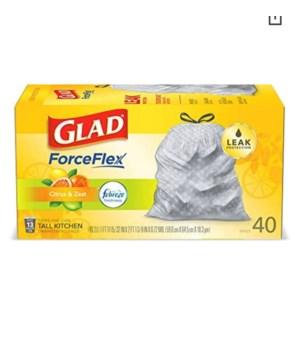 GLAD FORCE FLEX CITRUS&ZEST 6/40CT