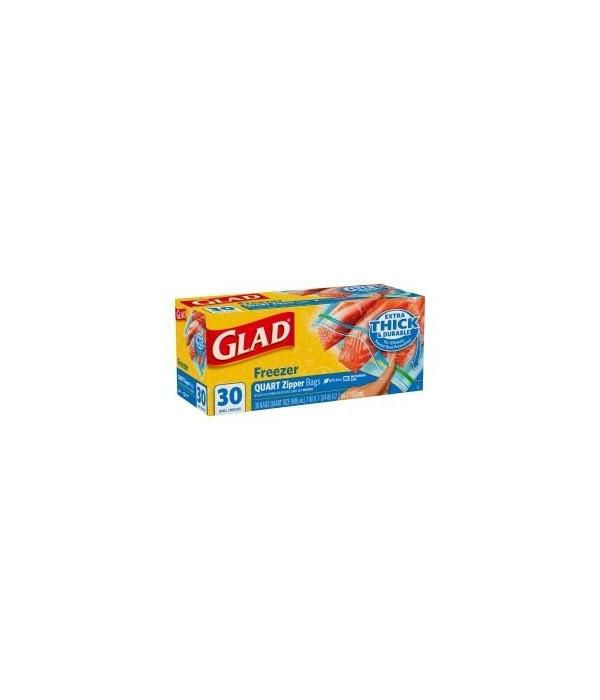 GLAD BAG FREEZER 9/30 CT