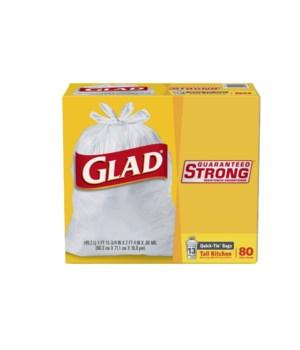 GLAD QUICK-TIE 13GL 4/80CT